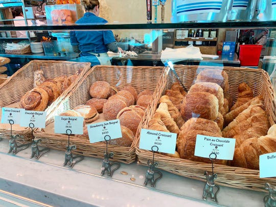 La Colmar prepares plain, chocolate and strawberry jam beignets, which are about the size of a sandwich.