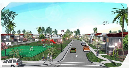 A rendering of Vincent's Acres, a future Habitat for Humanity of Collier County neighborhood planned on nearly 17 acres on the southwest corner of Davis Boulevard and Market Street in East Naples.