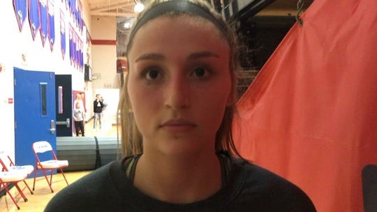 Licking Valley senior Emily Hartshorn had seven points, 12 rebounds and three steals in the Panthers' 45-38 Division II tournament win against visiting Columbus South.
