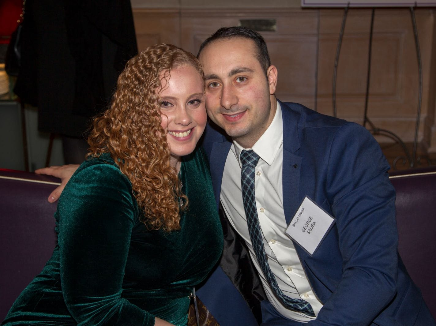 Victoria Miranda, George Saliba. Eva's Village hosted its second annual Lawyers, Accountants and Financial Professionals Benefit Dinner at Westmount Country Club in Woodland Park. 02/21/2019