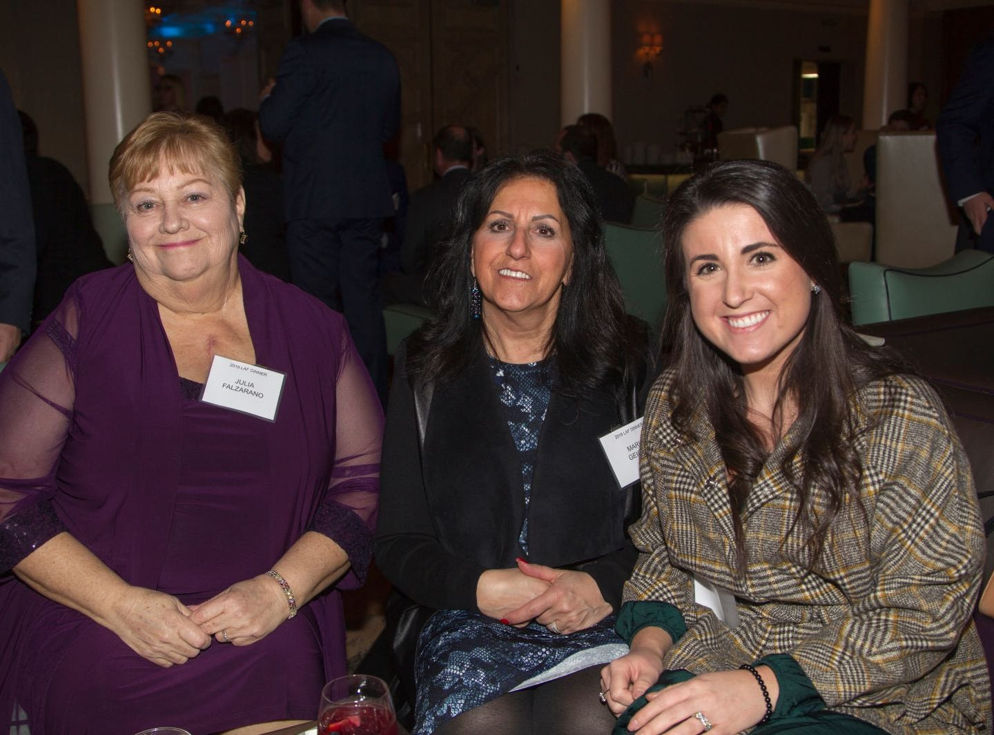Julia Falzarano, Maria Geiger, Jenny Show. Eva's Village hosted its second annual Lawyers, Accountants and Financial Professionals Benefit Dinner at Westmount Country Club in Woodland Park. 02/21/2019