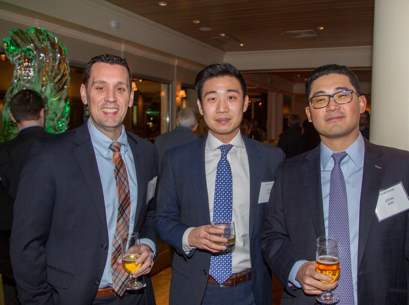 Francis Rial, Jea Lee, John Kim. Eva's Village hosted its second annual Lawyers, Accountants and Financial Professionals Benefit Dinner at Westmount Country Club in Woodland Park. 02/21/2019