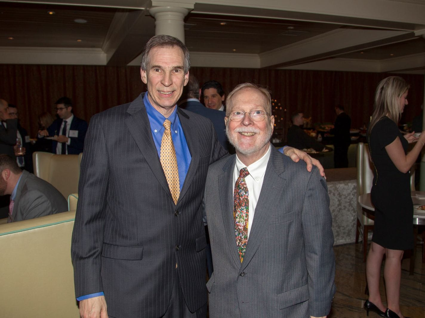 David Ritter, George Carnrick. Eva's Village hosted its second annual Lawyers, Accountants and Financial Professionals Benefit Dinner at Westmount Country Club in Woodland Park. 02/21/2019