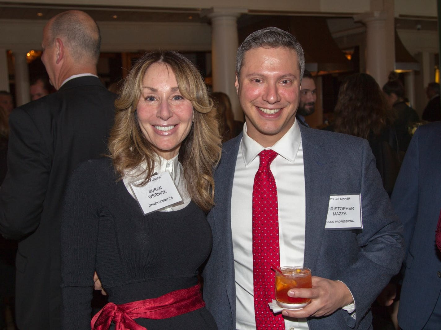 Chris Mazza, Susan Wernick. Eva's Village hosted its second annual Lawyers, Accountants and Financial Professionals Benefit Dinner at Westmount Country Club in Woodland Park. 02/21/2019