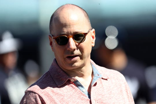 New York Yankees general manager Brian Cashman during spring training at George M. Steinbrenner Field.