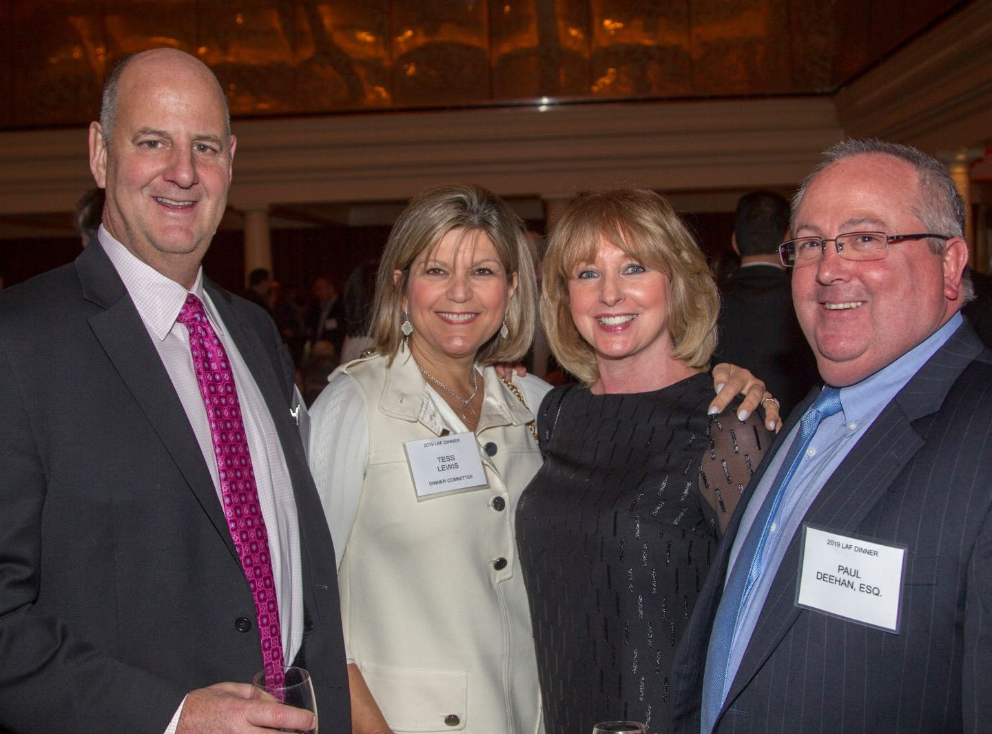 David Lewis, Tess Lewis, Kim Deehan, Paul Deehan. Eva's Village hosted its second annual Lawyers, Accountants and Financial Professionals Benefit Dinner at Westmount Country Club in Woodland Park. 02/21/2019