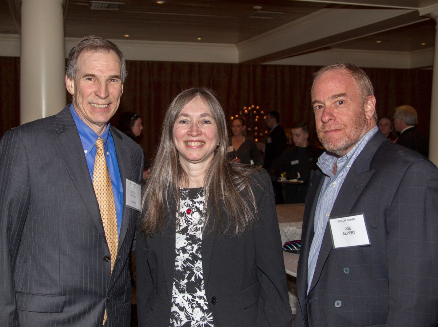 David Ritter, Deborah Ritter, Joe Alpert. Eva's Village hosted its second annual Lawyers, Accountants and Financial Professionals Benefit Dinner at Westmount Country Club in Woodland Park. 02/21/2019