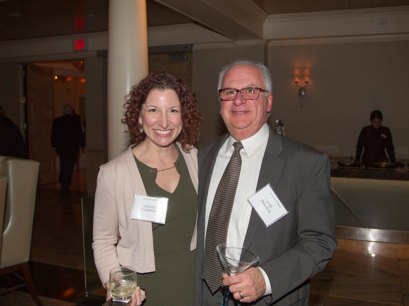 Heather Thompson, Dom Fanuele. Eva's Village hosted its second annual Lawyers, Accountants and Financial Professionals Benefit Dinner at Westmount Country Club in Woodland Park. 02/21/2019