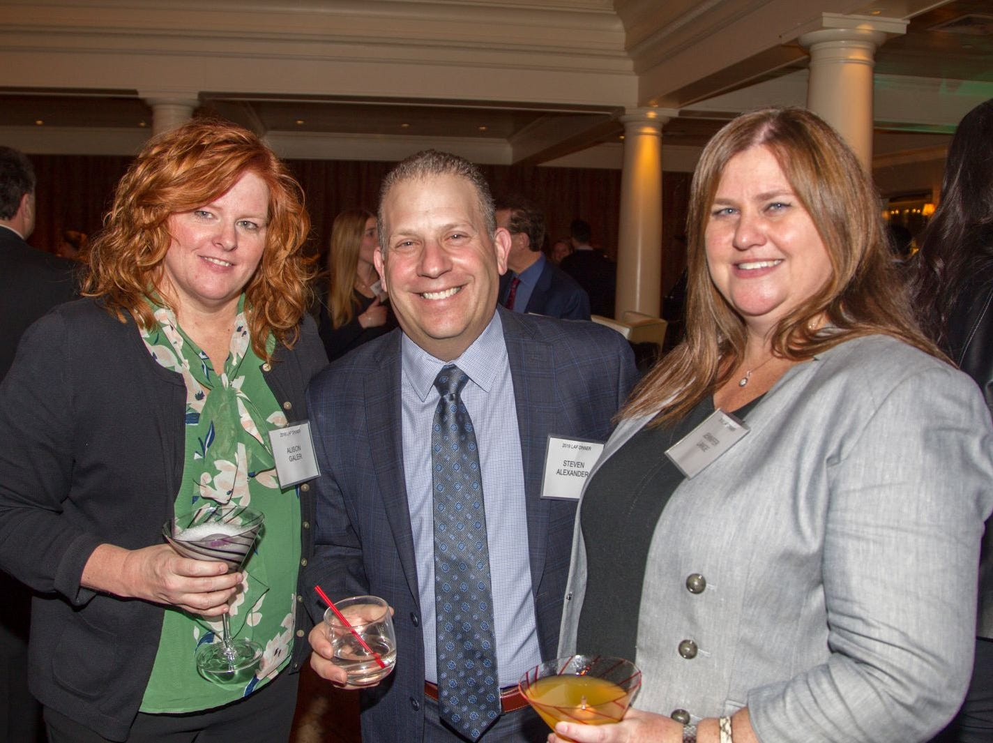 Alison Galer, Steven Alexander, Jennifer Lange. Eva's Village hosted its second annual Lawyers, Accountants and Financial Professionals Benefit Dinner at Westmount Country Club in Woodland Park. 02/21/2019