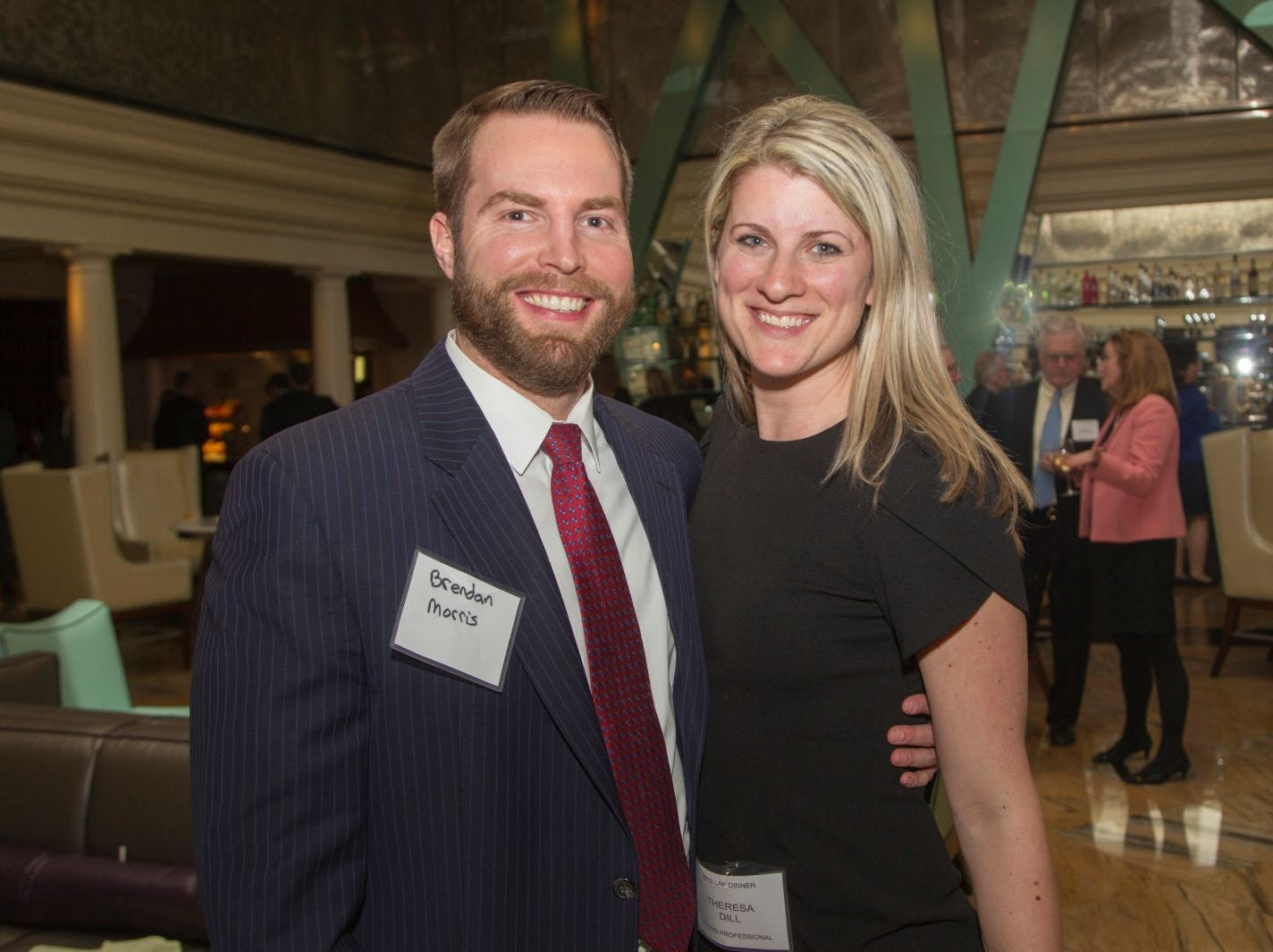 Brendan Morris, Theresa Dill. Eva's Village hosted its second annual Lawyers, Accountants and Financial Professionals Benefit Dinner at Westmount Country Club in Woodland Park. 02/21/2019