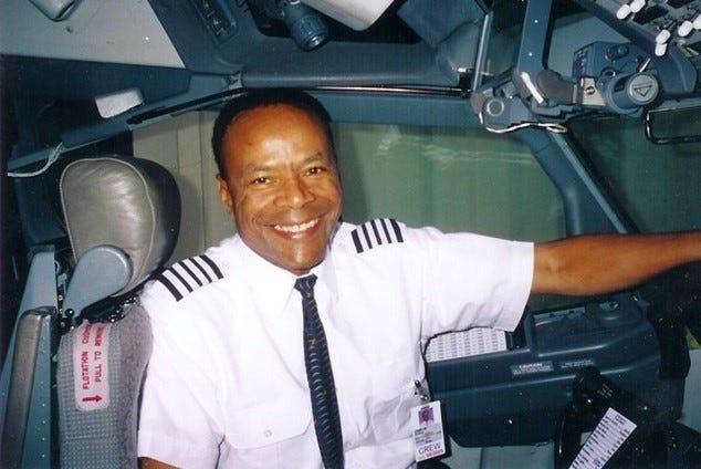 "Retired Lt. Col. Larry ""Jet"" Jackson, Tuskegee Airmen Incorporated Western Region mentor."