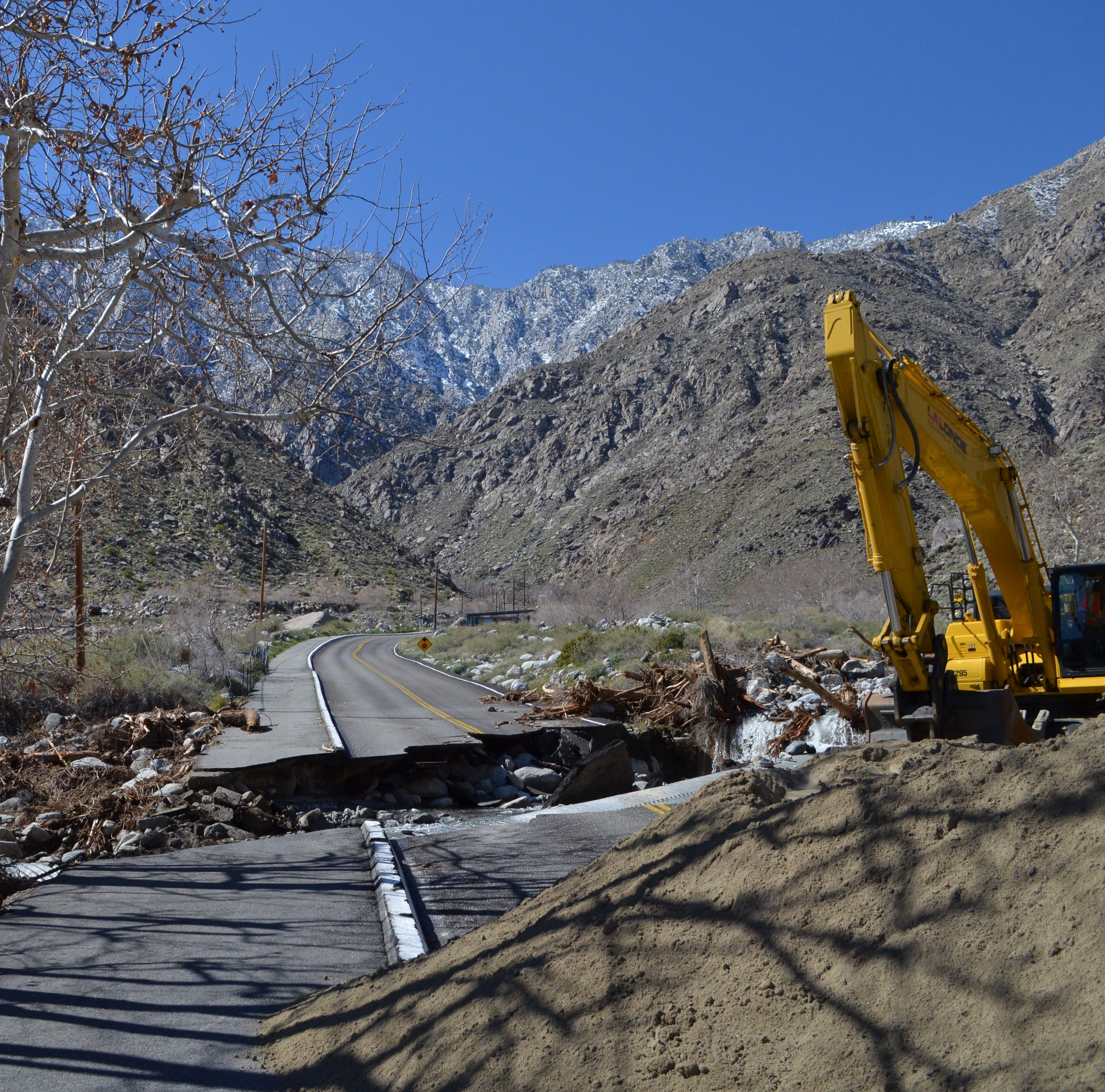 Palm Springs Tramway Road expected to cost $58,000 for initial repairs; no reopening date yet