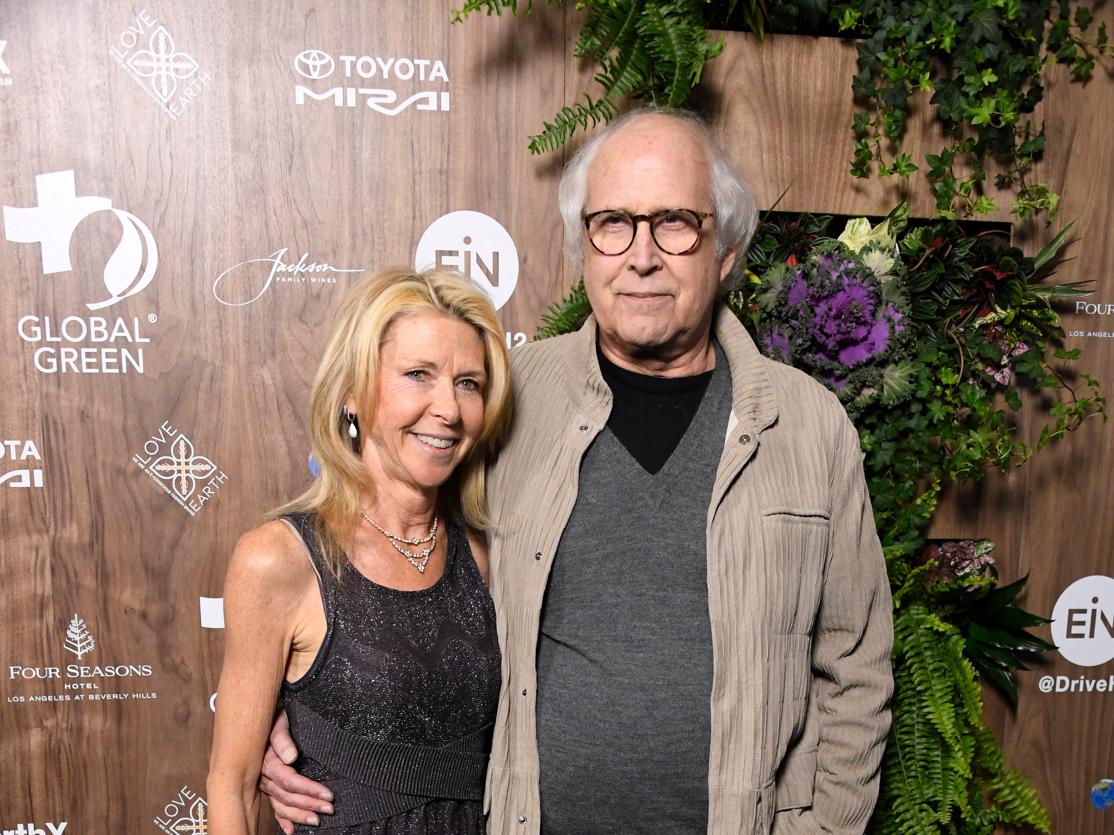LOS ANGELES, CALIFORNIA - FEBRUARY 20: Jayni Chase and Chevy Chase attend the Global Green 2019 Pre-Oscar Gala  at Four Seasons Hotel Los Angeles at Beverly Hills on February 20, 2019 in Los Angeles, California. (Photo by Frazer Harrison/Getty Images) ORG XMIT: 775298110 ORIG FILE ID: 1131084777