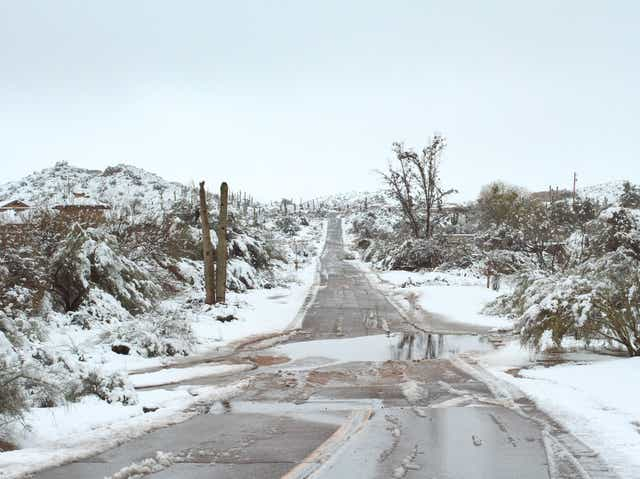 Image result for snow in scottsdale 2019