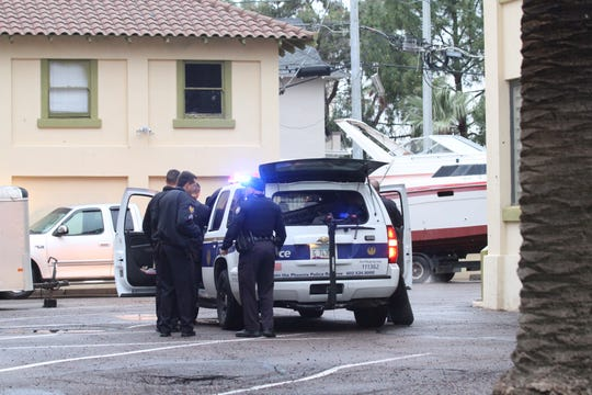 Police are investigating a reported stabbing in downtown Phoenix. A knife was observed in the driveway at 600 North 1st Avenue.