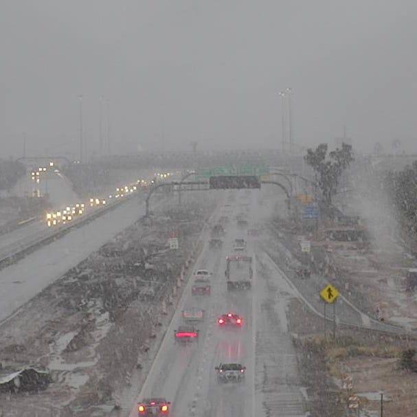 Arizona storm updates: Snow in Tucson, road closures in Phoenix