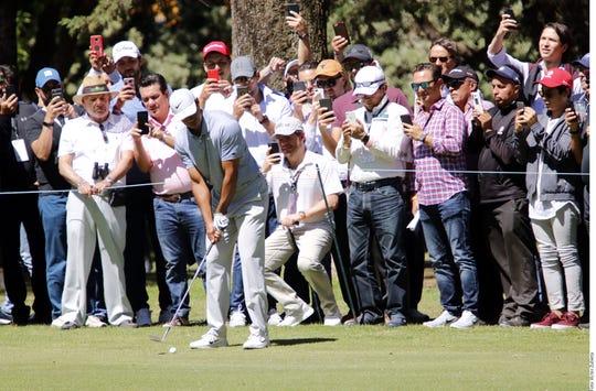 Tiger Woods en México.