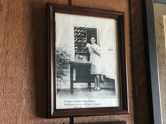 A photo of Frances Gearhart, the namesake of Franz's Tavern & Restaurant, who operated the pub as well as a World War II post office.