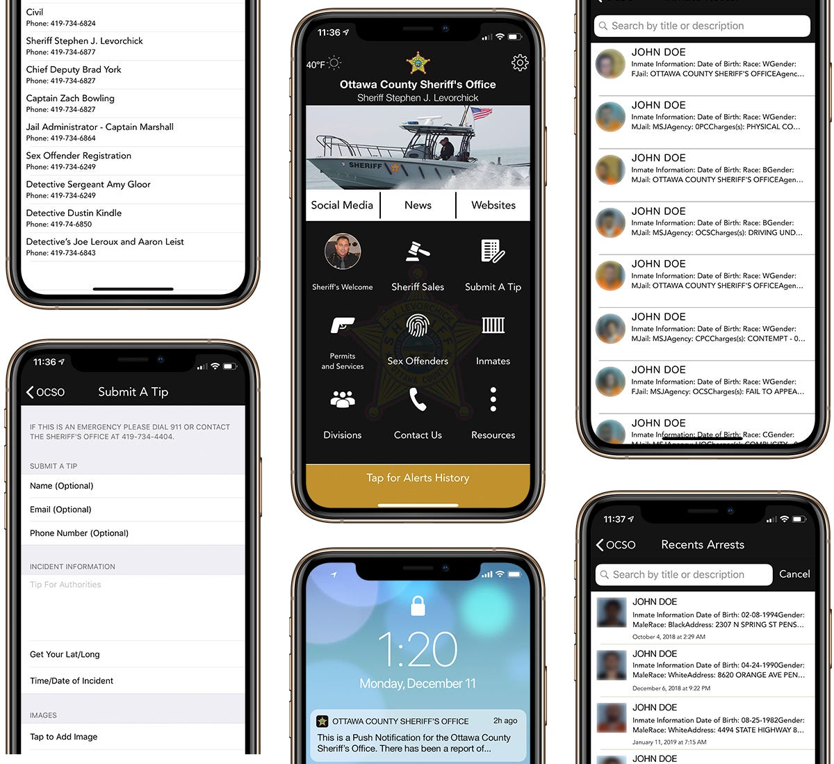 The Ottawa County Sheriff's Office launched a new mobile app Friday that local law enforcement officials say will better communications with the public now and into the future.