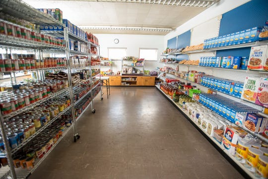 All of the food held in the Center's pantry has been received through donations. Food giveaways will be held May 16, June 20, July 18, Aug. 15 and Sept. 19, each beginning at 1 p.m.