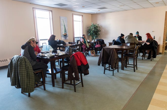 Guests at lunch at the Center of Port Huron on Tuesday, Feb. 19, 2019.