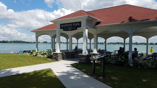 A pavilion, as well as a neighboring restroom building, were completed in Mariner Park, just south of Pearl Street and Marine City Beach on North Water Street in 2017.