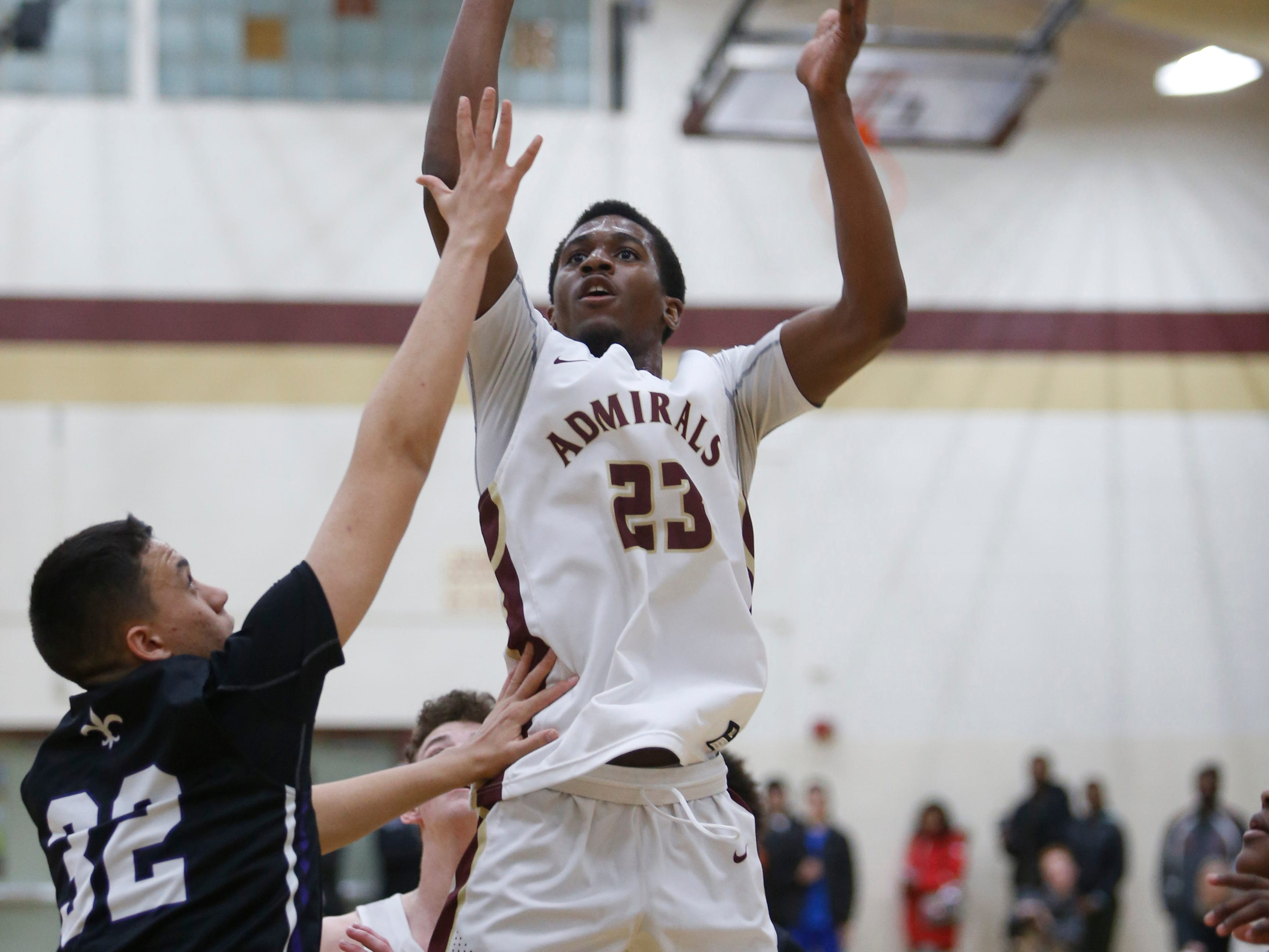 Action from Thursday's playoff game between Arlington and New Rochelle in Freedom Plains on February 21, 2019.