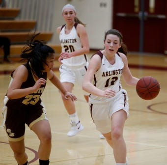 Arlington Girls Basketball Advance defeat Clarkstown South in the first round of Section 1 playoffs.