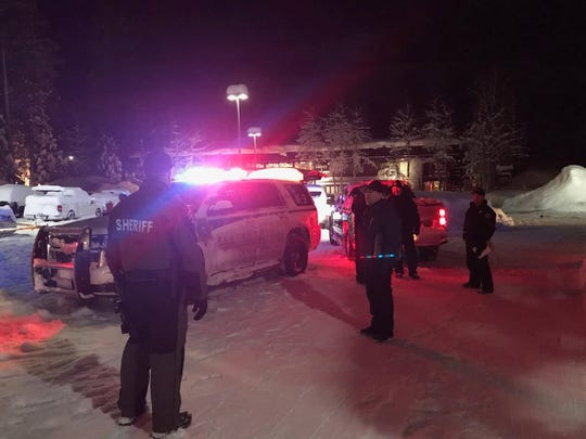 Placer County deputies respond to a report of a fatal shooting on Feb. 16, 2019 at Boatworks Mall in Tahoe City.