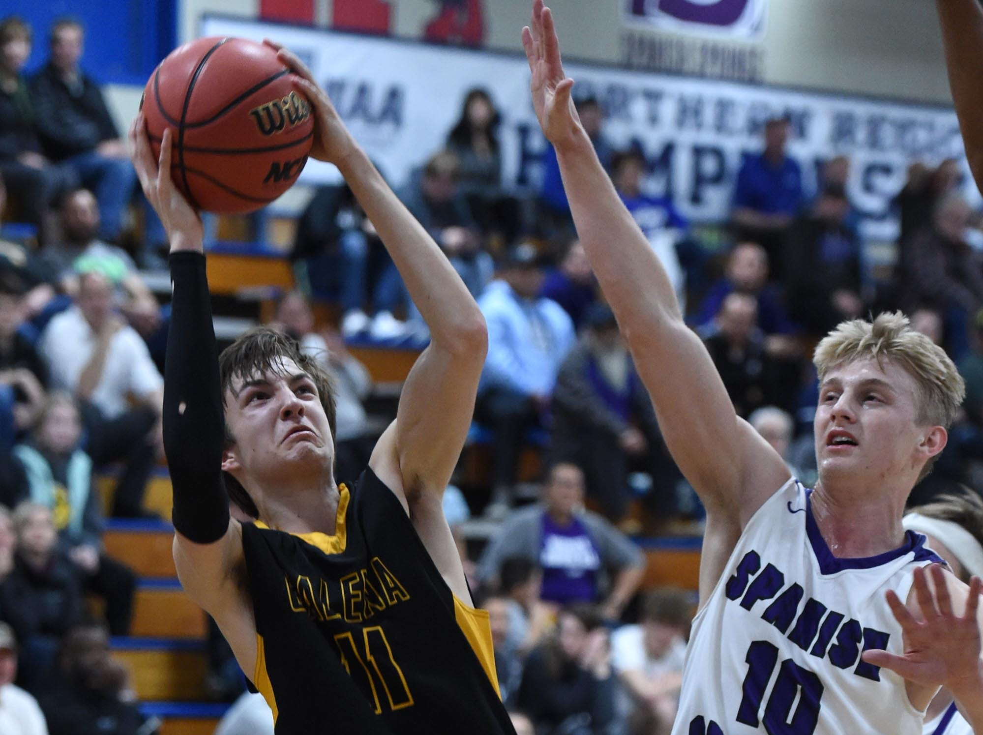 Action photos from the Spanish Springs vs Galena regional playoff game at Carson City High School on Thursday Feb 21, 2109. Spanish Springs won 51-44.