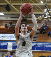 Action photos from the Reed vs Bishop Manogue regional playoff game at Carson City High School on Thursday Feb 21, 2109. Bishop Manogue won 43-41.