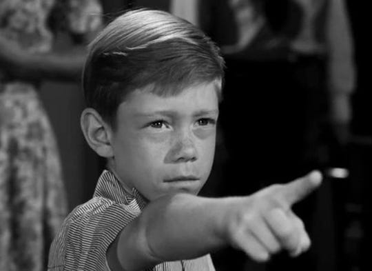 """Billy Mumy plays """"Anthony Fremont"""" in the classic Twilight Zone episode, """"It's a Good Life."""""""