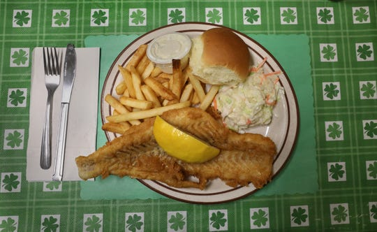 The fish fry at Crabby Dan's Grill in Mendon had a light, crispy coating.