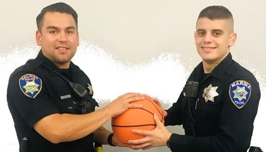 Salinas and Marina police departments face off on the basketball court this Saturday night with a trophy and bragging rights at stake.