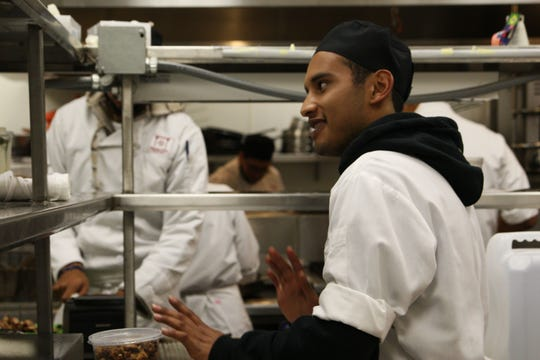 Joaquin Pimentel is a student at Rancho Cielo learning culinary techniques. He wants to own his own restaurant in Salinas, one day.
