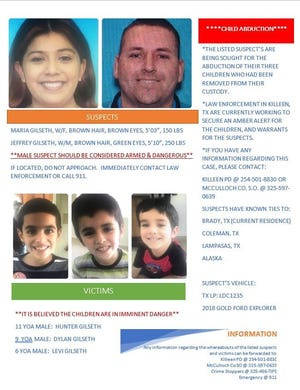 Dylan, Levi and Hunter Gilseth are missing.