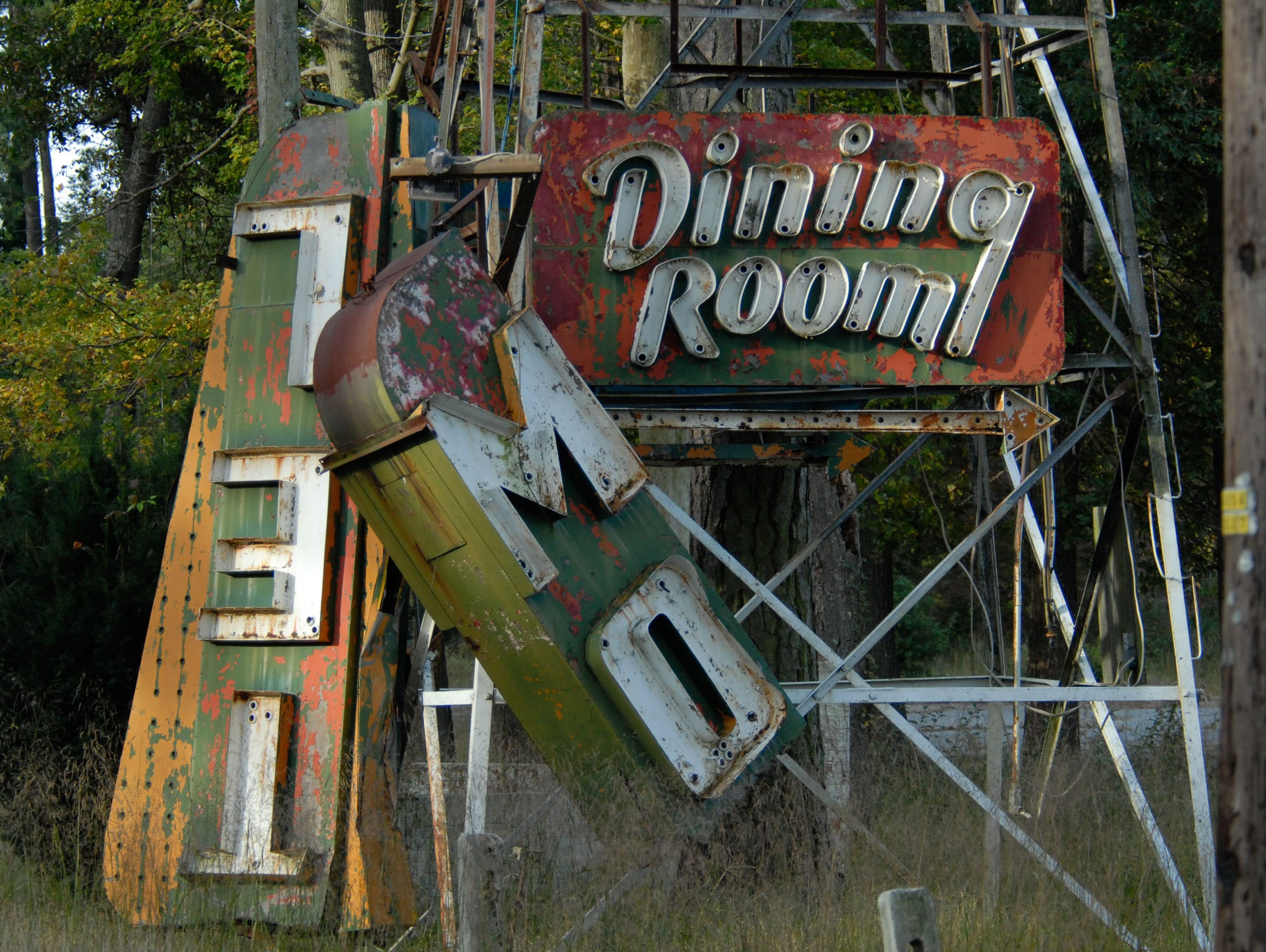 A sign at the Whispering Pines Motel in Tasley is broken and the building itself is in disrepair. A local resident brought up the problem of the building and it being an eyesore so close to U.S. Route 13 Wednesday during an Accomack County Board of Supervisors meeting.