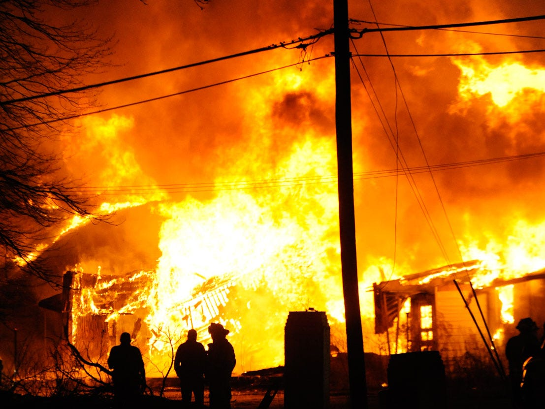 Fire destroyed the Whispering Pines Motel on Tuesday, March 12, 2013. Investigators believe the fire to be the work of an arsonist in Accomack County who has set more that 65 fires since November. The motel is the largest fire set so far. Parts of the motel date to the 1930s.