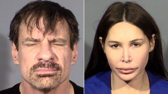 Henry Nicholas (left) and Ashley Fargo were arrested last August in a Las Vegas hotel suite where police found suspected heroin, meth, mushrooms and ecstasy.