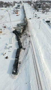 Several train cars derailed in Wessington, South Dakota Thursday afternoon. Authorities have not yet commented on what the cause might have been.