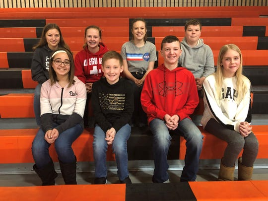 Dell Rapids Middle School Students of the Month.