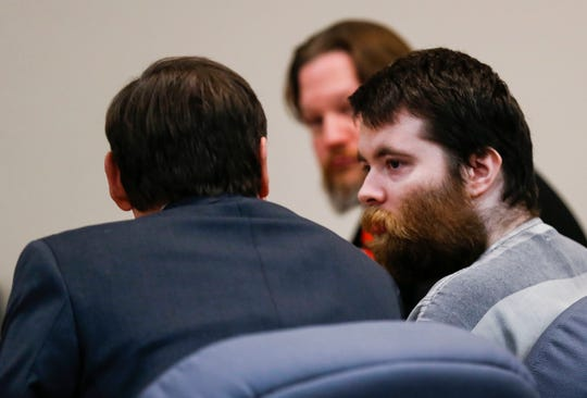 "Nicholas Godejohn appears in court at his sentencing hearing Friday, Feb. 22, 2019. Godejohn was sentenced to life in prison without the possibility of parole for the 2015 murder of Clauddine ""Dee Dee"" Blanchard."