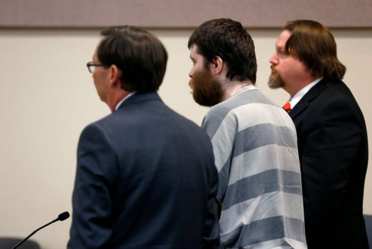 """Nicholas Godejohn appears in court at his sentencing hearing Friday, Feb. 22, 2019. Godejohn was sentenced to life in prison without the possibility of parole for the 2015 murder of Clauddine """"Dee Dee"""" Blanchard."""