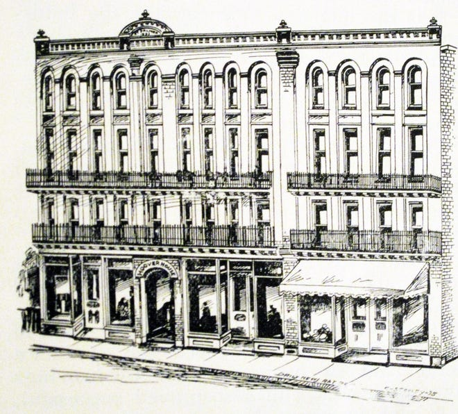 1896 drawing of what would become the Palmer House, at 105-107 W. Beverley St.