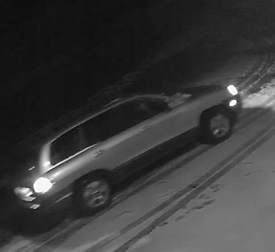 A vehicle police believe was involved in a robbery Wednesday night in Waynesboro.