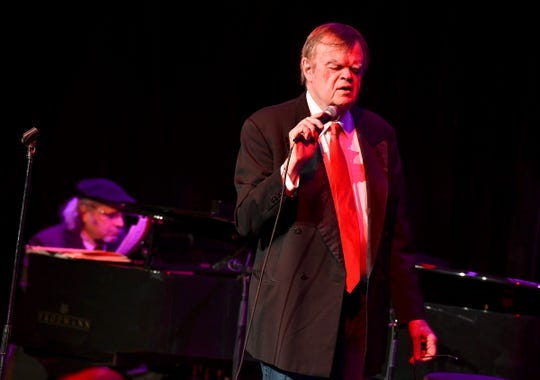 "Garrison Keillor performs during the show ""Old Friends"" Thursday, Feb. 21, at Pioneer Place on Fifth in St. Cloud."