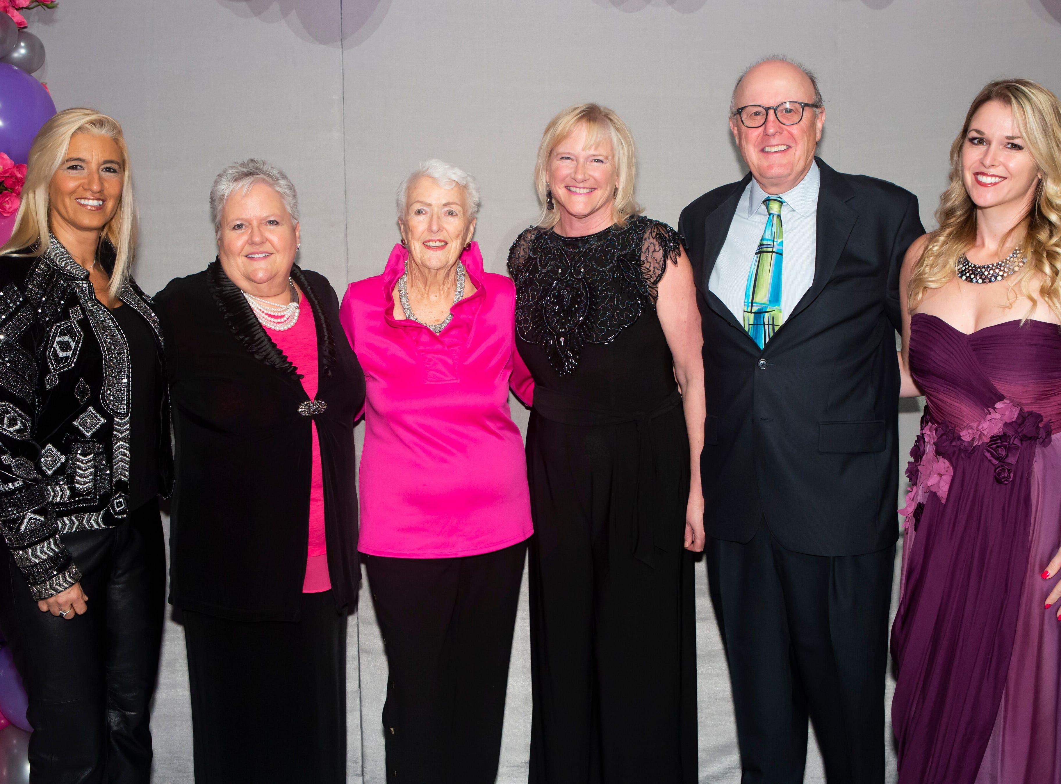 "Sonya Nunez, left, Janice Clark, Isolda Clark, Debby Clark, Phil Clark and Ashley Clark at the Maltz Jupiter Theatre's ""The Disco Ball"" Feb.2at The Breakers Palm Beach."