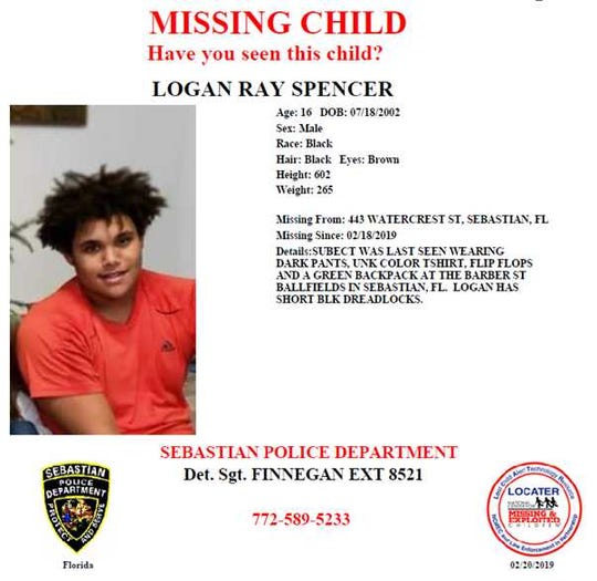 A family member confirmed a body found Friday night in Fellsmere was that of Logan Spencer, a Sebastian teen reported missing Monday. Authorities are treating the case as a possible homicide.