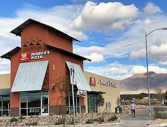 Marco's Pizza, an Ohio-based restaurant chain, opened Feb. 18 in The Canyons at Cimarron shopping center located at Resler and Paseo del Norte drives in far West El Paso.
