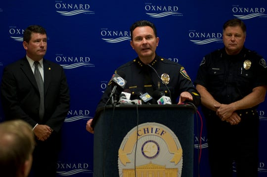 Oxnard Assistant Police Chief Jason Benites addresses the media at a 2013 news conference.